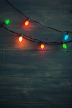 string of colored Christmas lights