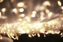 glowing strand of Christmas lights