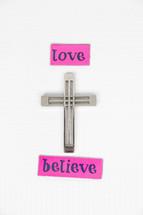 cross, love, believe