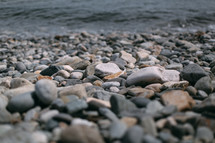 pebbles along a shore