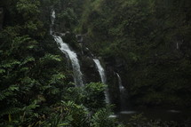 waterfalls in a jungle