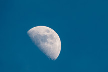 moon against a blue sky