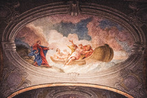 painting on cathedral ceiling