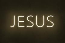 Jesus neon sign