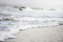 waves washing onto the shore