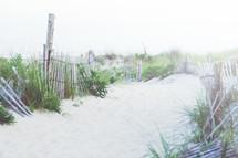 Beach walkway to the ocean