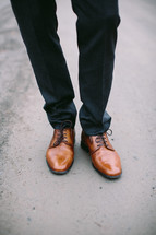 man in dress shoes