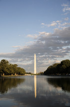 Washington Monument and reflection pool