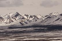 snow on a mountain range