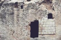 The empty Garden Tomb in Jerusalem