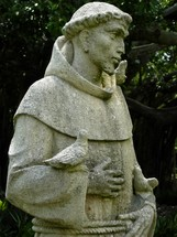 "St. Francis of Assisi (Italian: San Francesco d'Assisi, born Giovanni di Pietro di Bernardone, but nicknamed Francesco (""the Frenchman"") by his father, 1181/1182 – October 3, 1226)[3] was an Italian Catholic friar and preacher. He founded the men's Order of Friars Minor, the women's Order of St. Clare, and the Third Order of Saint Francis for men and women not able to live the lives of itinerant preachers followed by the early members of the Order of Friars Minor or the monastic lives of the Poor Clares.[4] Though he was never ordained to the Catholic priesthood, Francis is one of the most venerated religious figures in history"
