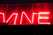 vine neon lights sign