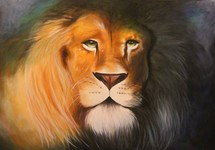 Painting of a Male Lion