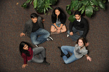 a group of diverse college students