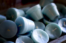 teal candles