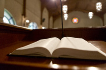 Bible on the pulpit