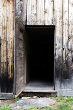 Open barn door.