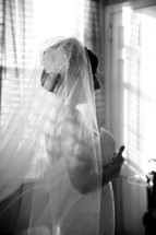 side profile of a bride
