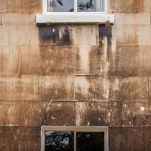 grungy exterior walls