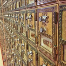 Old fashioned mailboxes