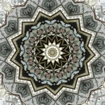 mandala pattern on a ceiling