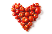 heart out of tomato