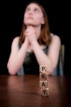 pray - woman in prayer