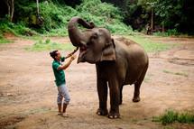 man with an Elephant