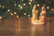 hand-carved nativity from Jordan