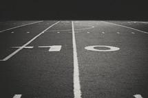 ten yard line on a field