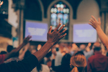 Hand Risen in Worship