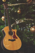 Christmas service music with worship guitar