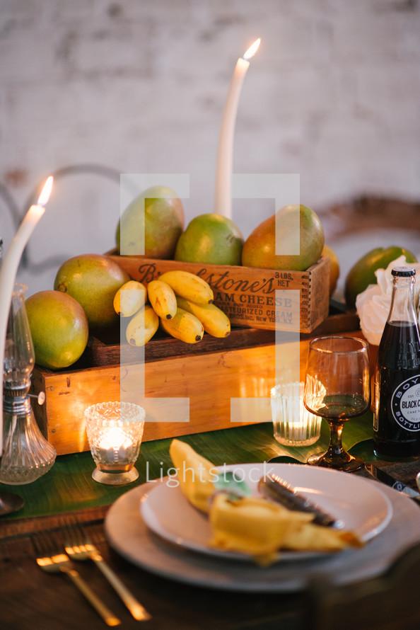 romantic summer table setting