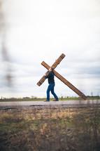 bearing the cross - re-enacting Christ's walk