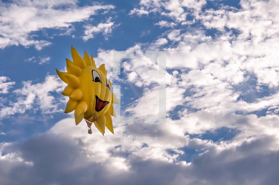 sunshine hot air balloon