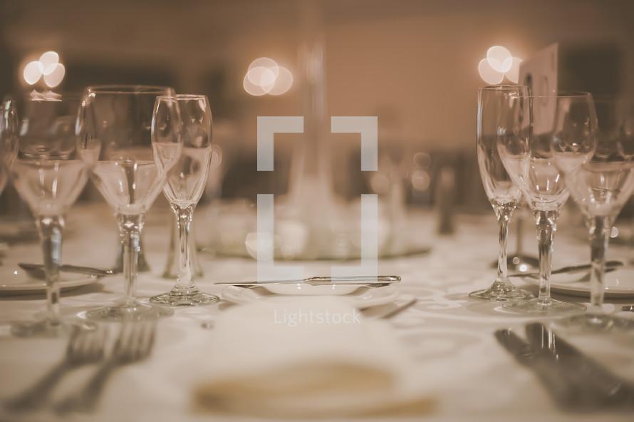 Romantic Wedding Reception Table