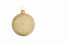 gold glitter ornament ball