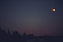 full moon in a night sky