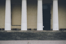 stone steps and columns