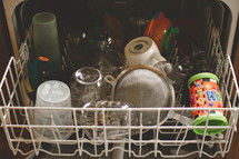dishwasher full of dirty dishes