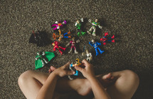 boy child playing with toys