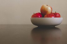 bowl of red apples