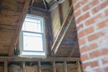 a window in an attic