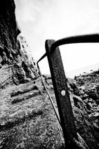 guardrail on mountain