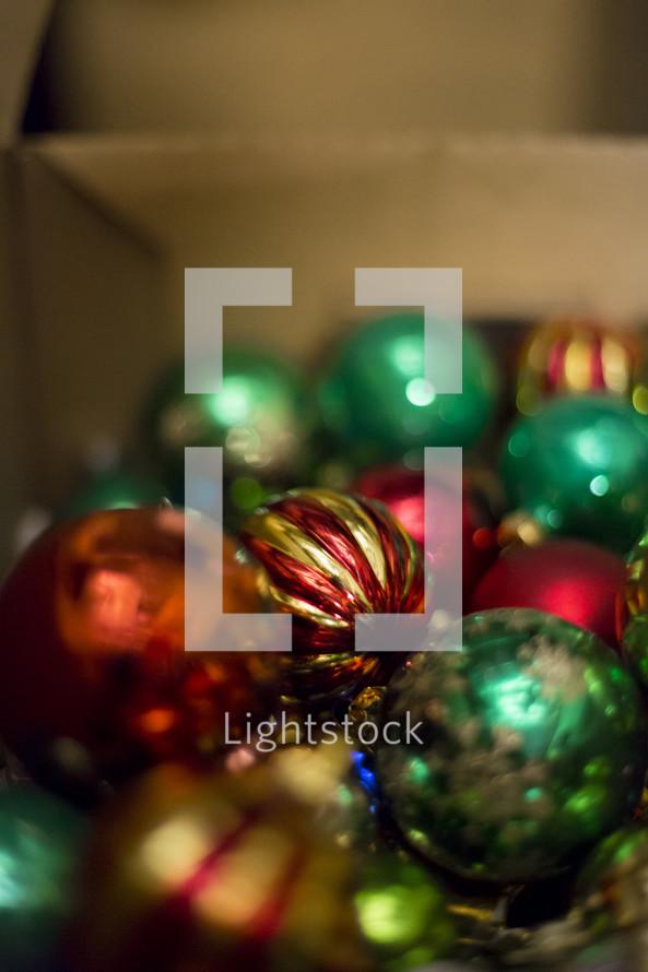 Christmas tree ornament bulbs