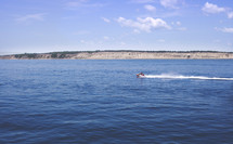 distant jet ski on the water