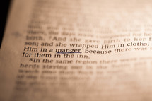 Underlined scripture