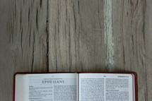 A Bible opened to Ephesians