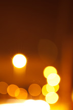 bokeh yellow lights