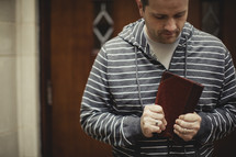 Man going to bible study